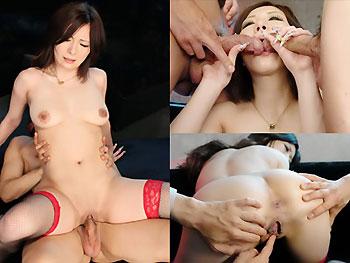 淫乱中出し3P Ayami オマニー